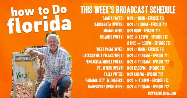TV broadcast schedule for Flip Your Florida Yard native landscape makeover